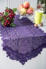 "16"" X108"" Vintage Chantilly Lace Embroidered Table Runner (5 Colors)"