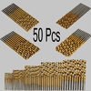 50 Pcs Titanium Coated High Speed Steel Drill bits Ships FREE