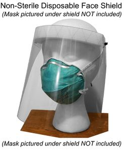 Non-Sterile Disposable Face Shield (Qty 5 Pack)
