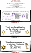 Bar Mitzvah / Bat Mitzvah Candy Bars and Candy Bar Wrappers