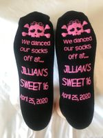Sweet 16 Custom Socks (case of 48) *NO SET UP FEE*