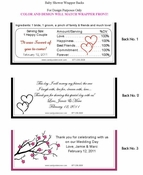WED-07CW Elegant Damask Wedding Candy Bar Wrappers