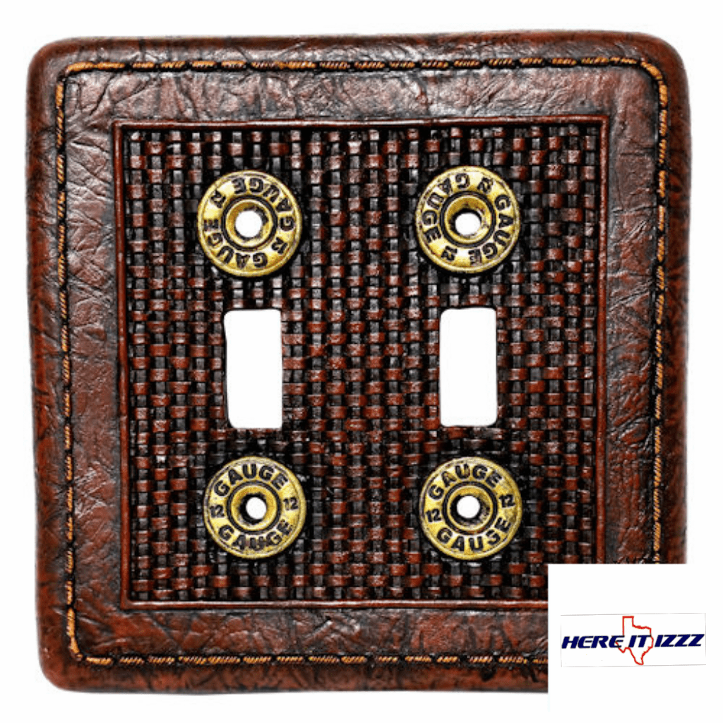 12 Gage Shotgun Shell Double Switch Cover