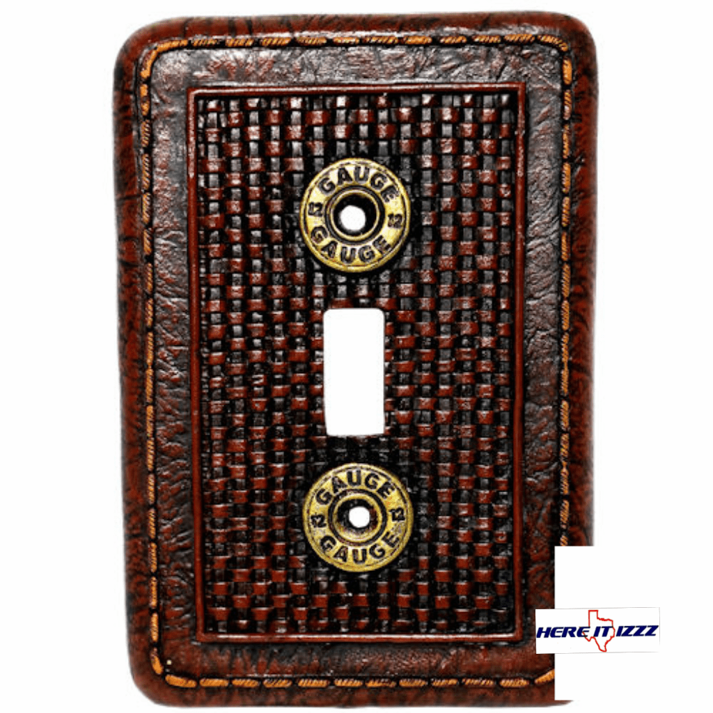 12 Gage Shotgun Shell Single Switch Cover