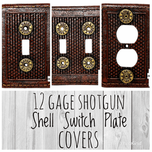 12 Gage Shotgun Shell Switch Plate and Outlet Covers