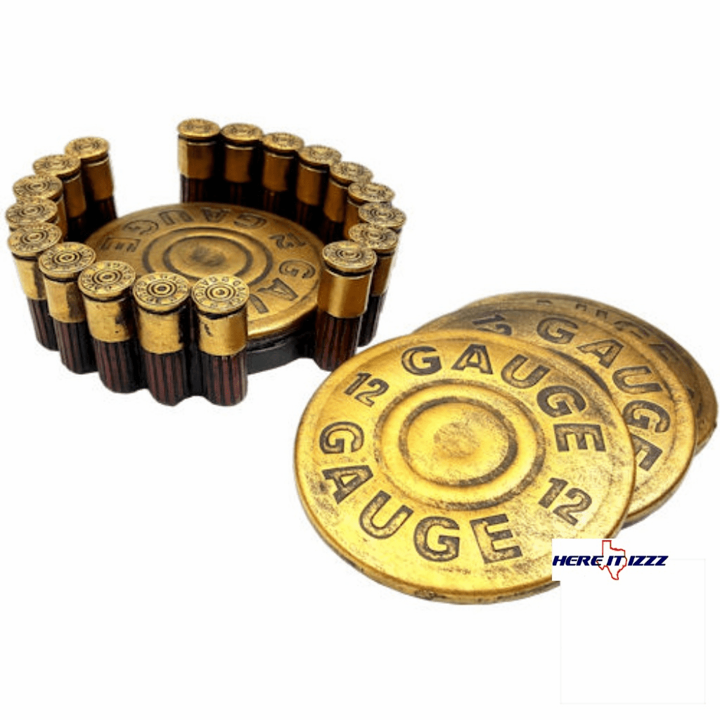 12 Gauge Shotgun Buckshot Drink Coaster Set