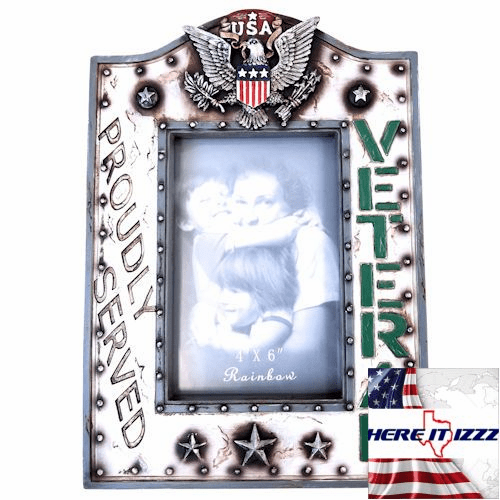 American Veteran Military Picture Frame 4x6