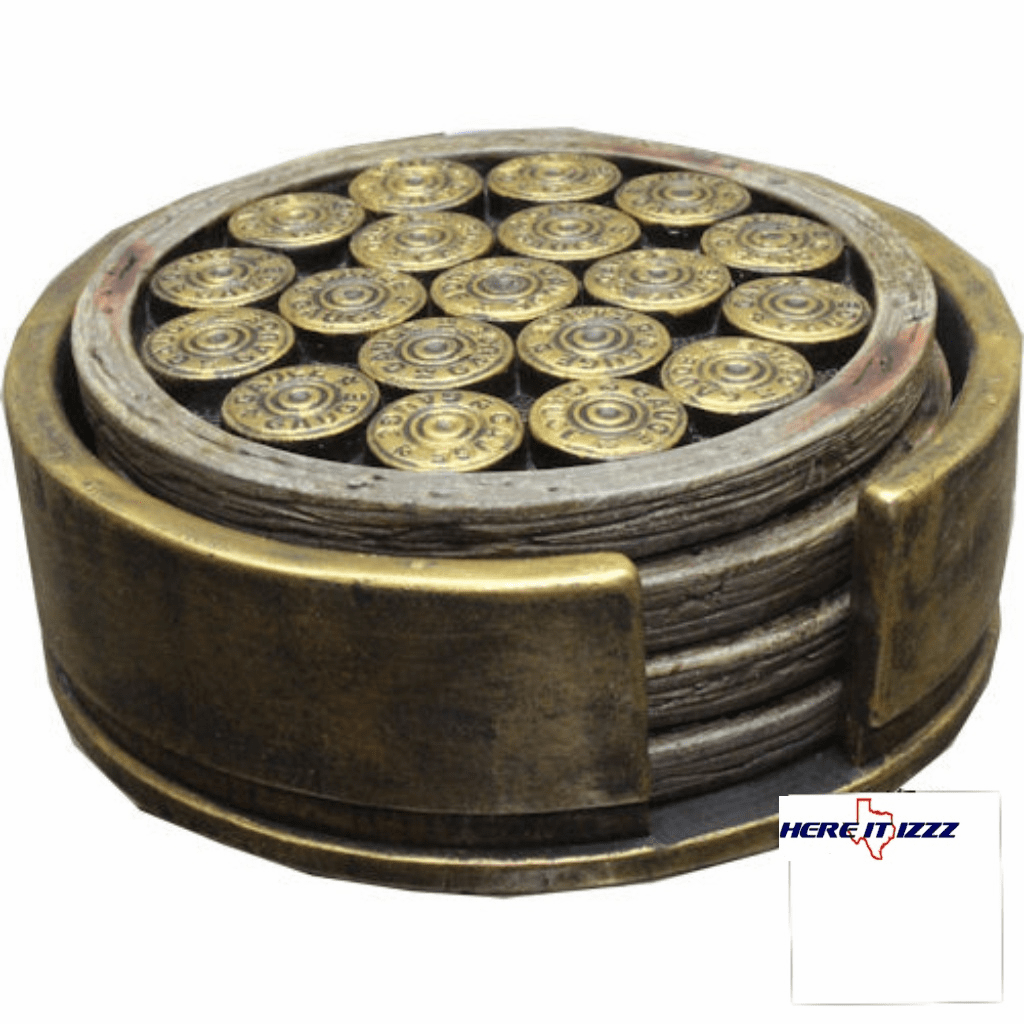 Ammo Cartridge Drink Coaster Set