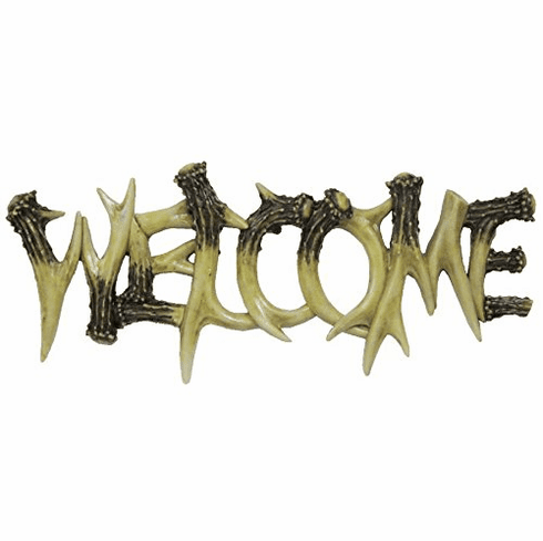 "Antler ""Welcome"" Wall Decor"