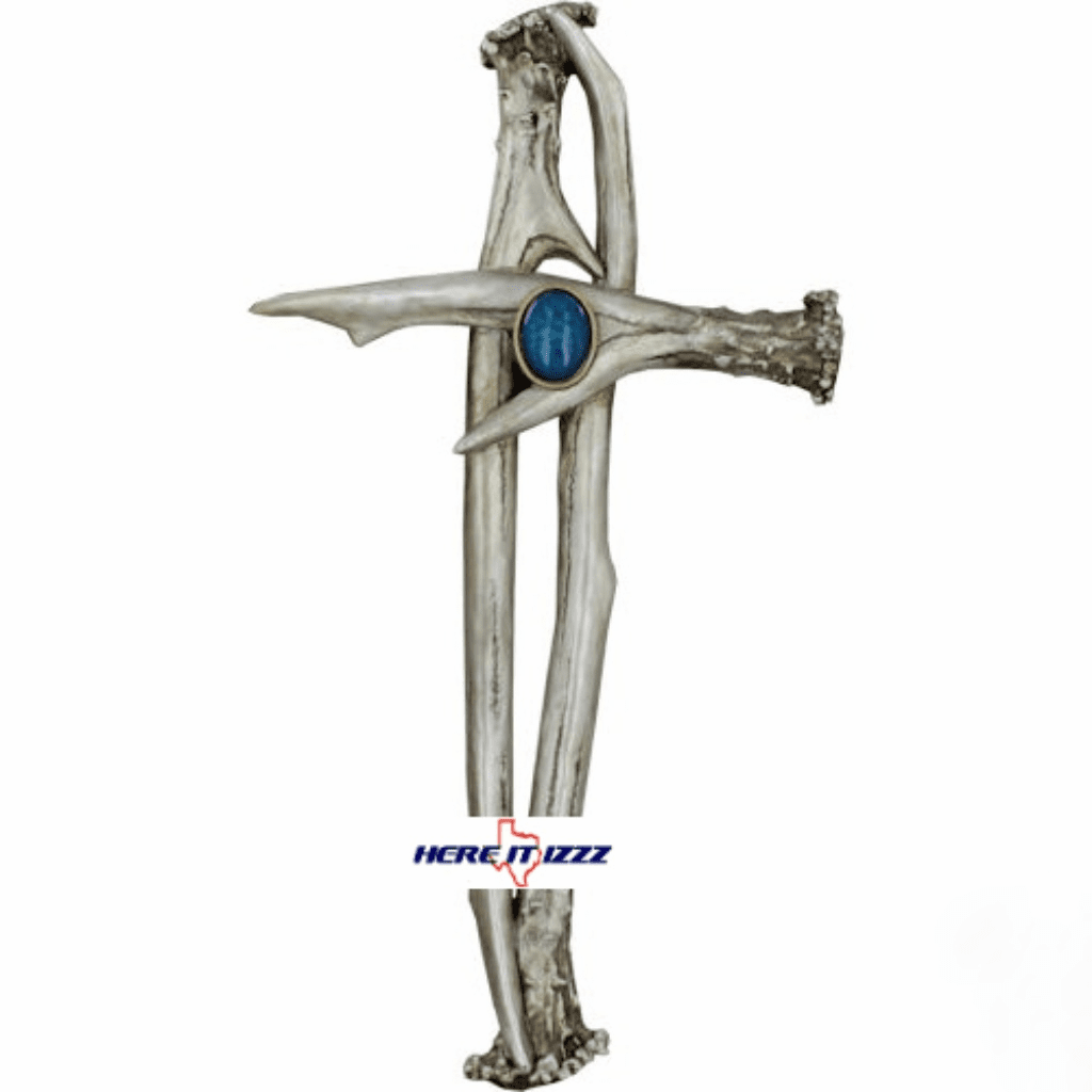 Antler  Silver Wall Cross
