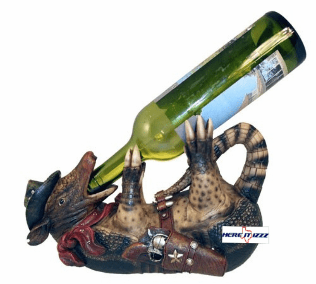 Armadillo Cowboy Wine Holder
