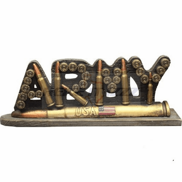 Army Bullet Desk Sign