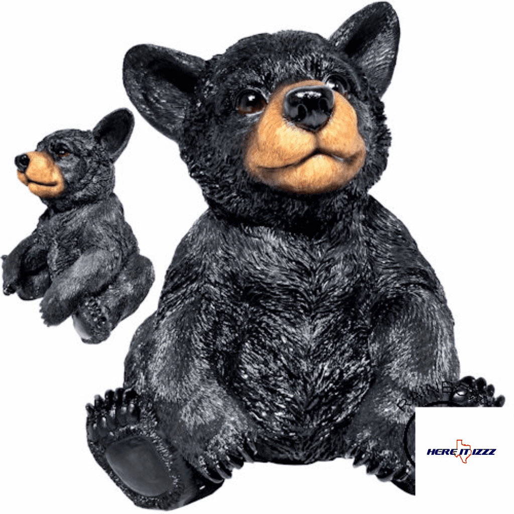 Baby Black Bear Figurine