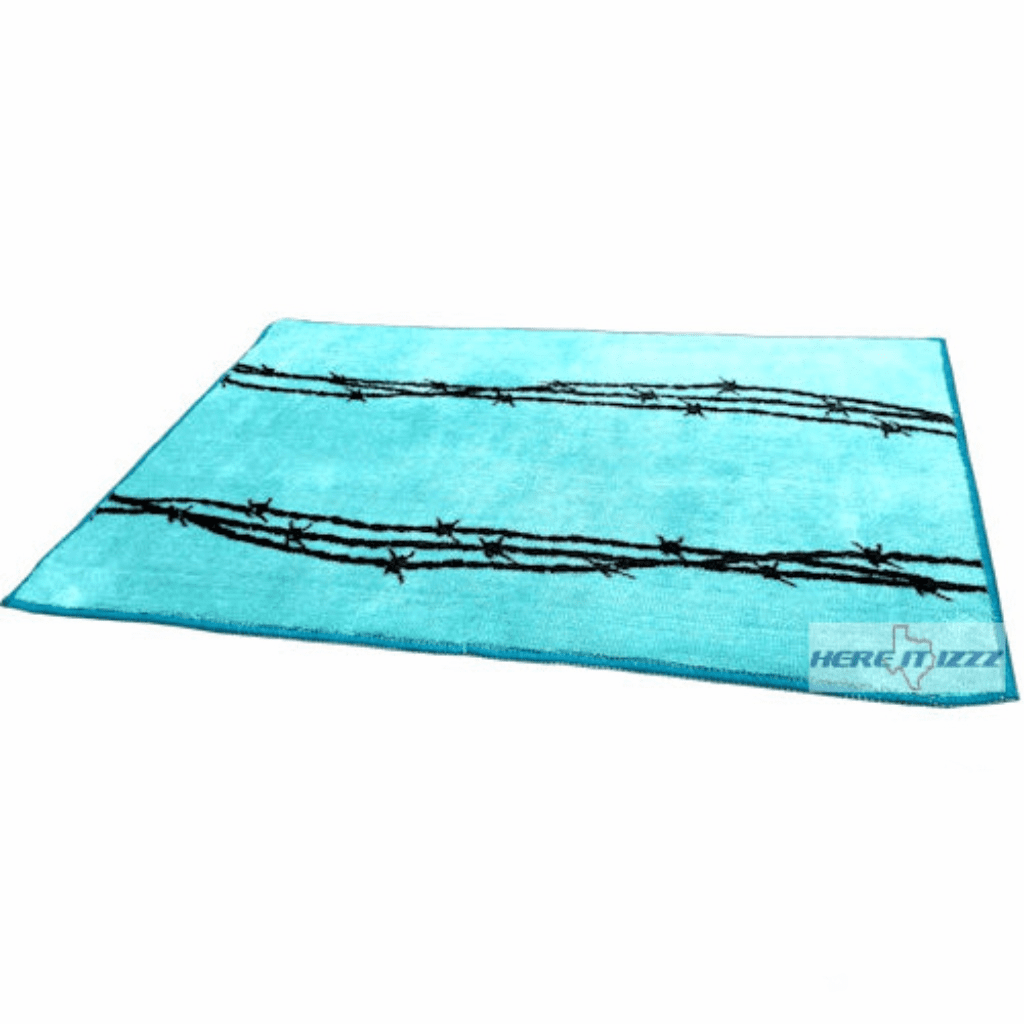 Barb Wire Turquoise Rug