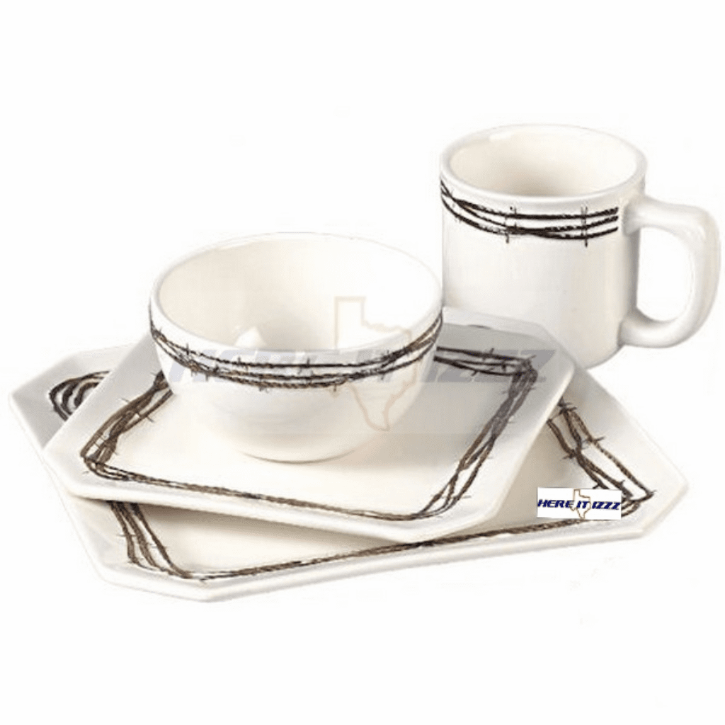 Barbwire Dinnerware Set   Set