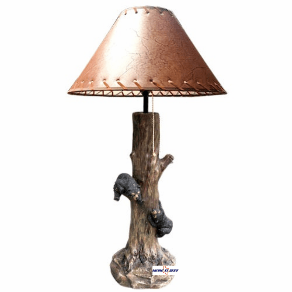 Bear Cubs Climbing Tree Lamp