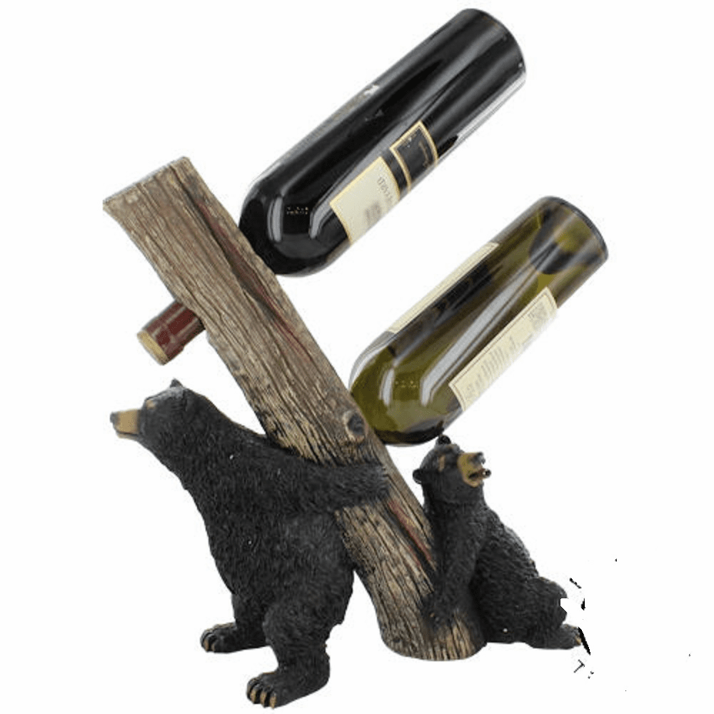 Bear Double Wine Bottle Holder