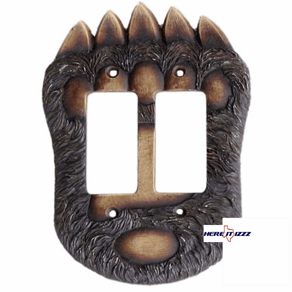 Bear Paw Double Rocker Switch  Cover