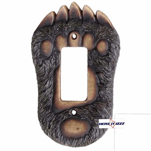 Bear Paw Single Rocker Switch  Cover