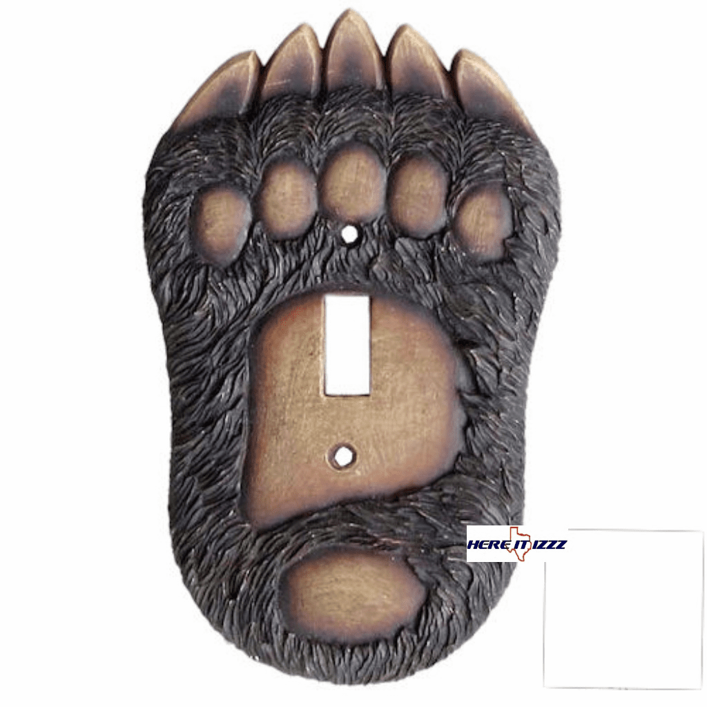 Bear Paw Single Switch  Cover