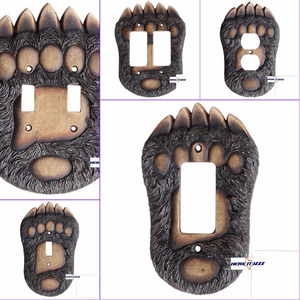 Bear Paw Switch Plate Covers