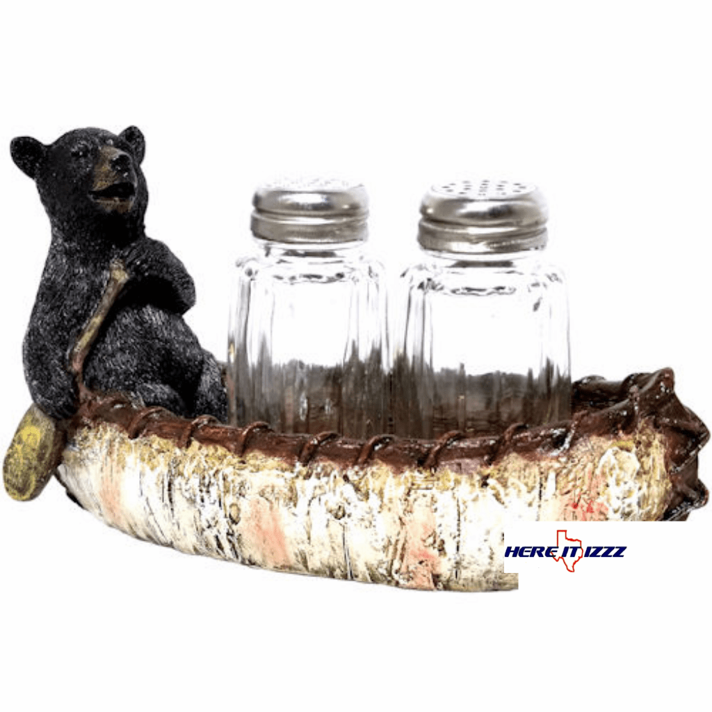Black Bear Birch Canoe Salt & Pepper Shakers