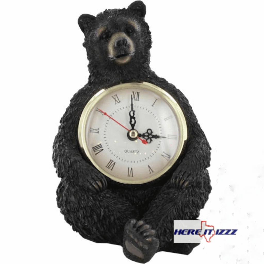 Black Bear Desk Clock