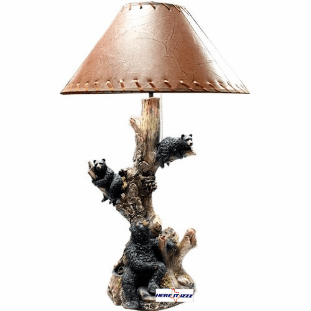 Black Bear Family Tabletop Lamp