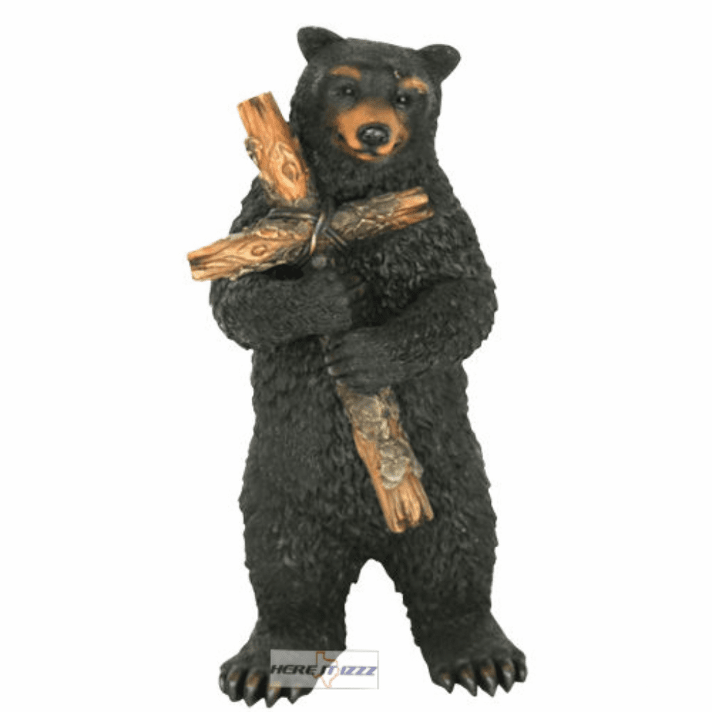 Black Bear Holding Cross