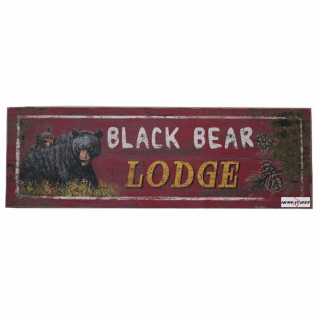 Black Bear Lodge Sign