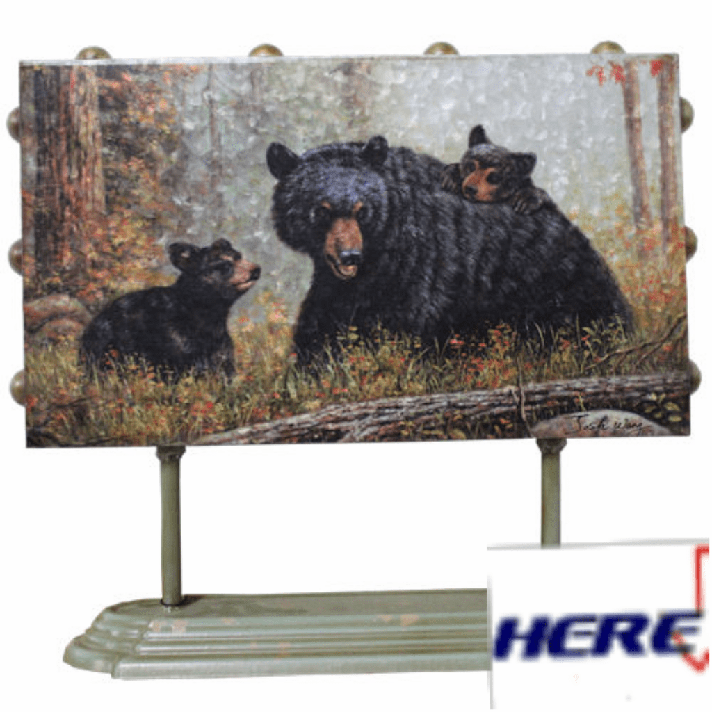 Black Bear Metal Self Standing Art
