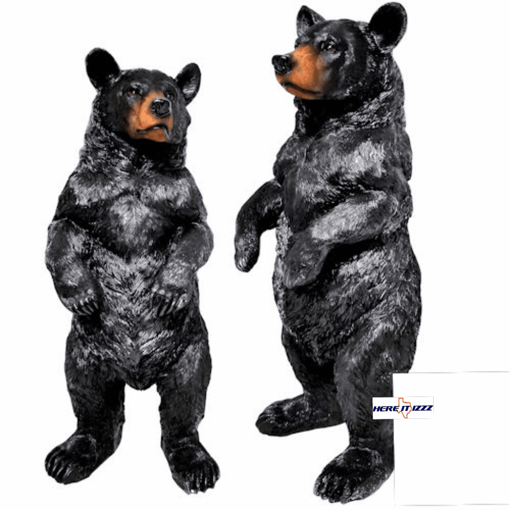 Black Bear Standing Figurine