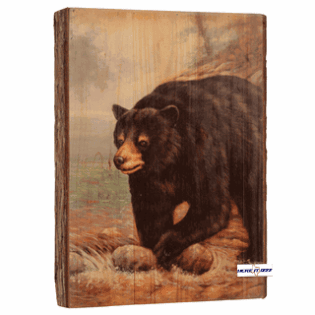 Black Bear Tree Bark Wall Hanging
