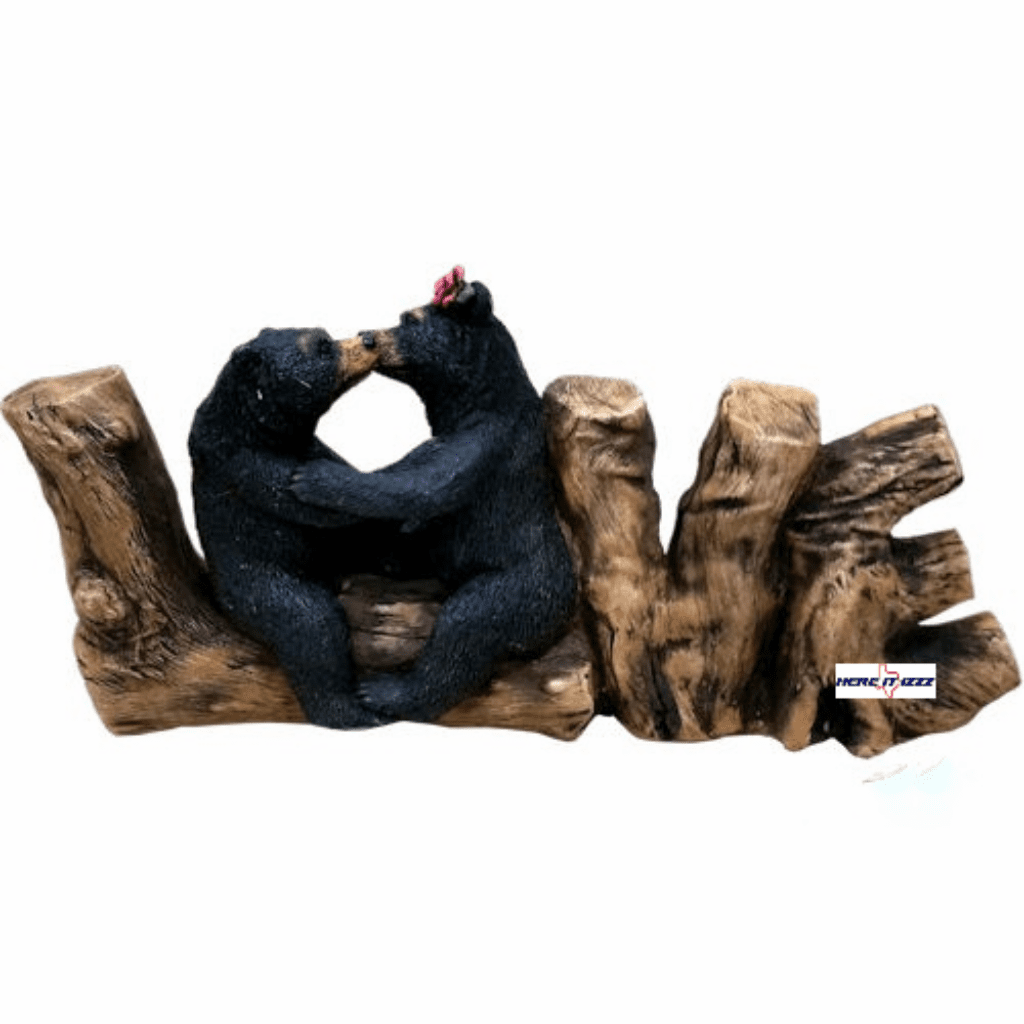 Black Bears In Love Sign