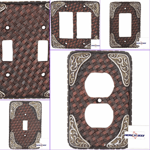 Boot Tip Basket Weave Electrical Covers
