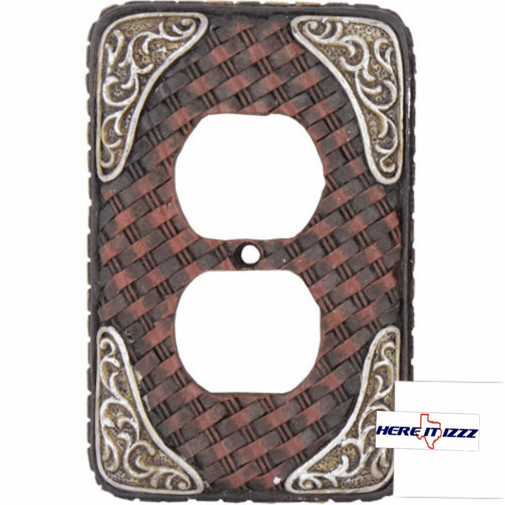 Boot Tip Basket Weave Outlet Cover