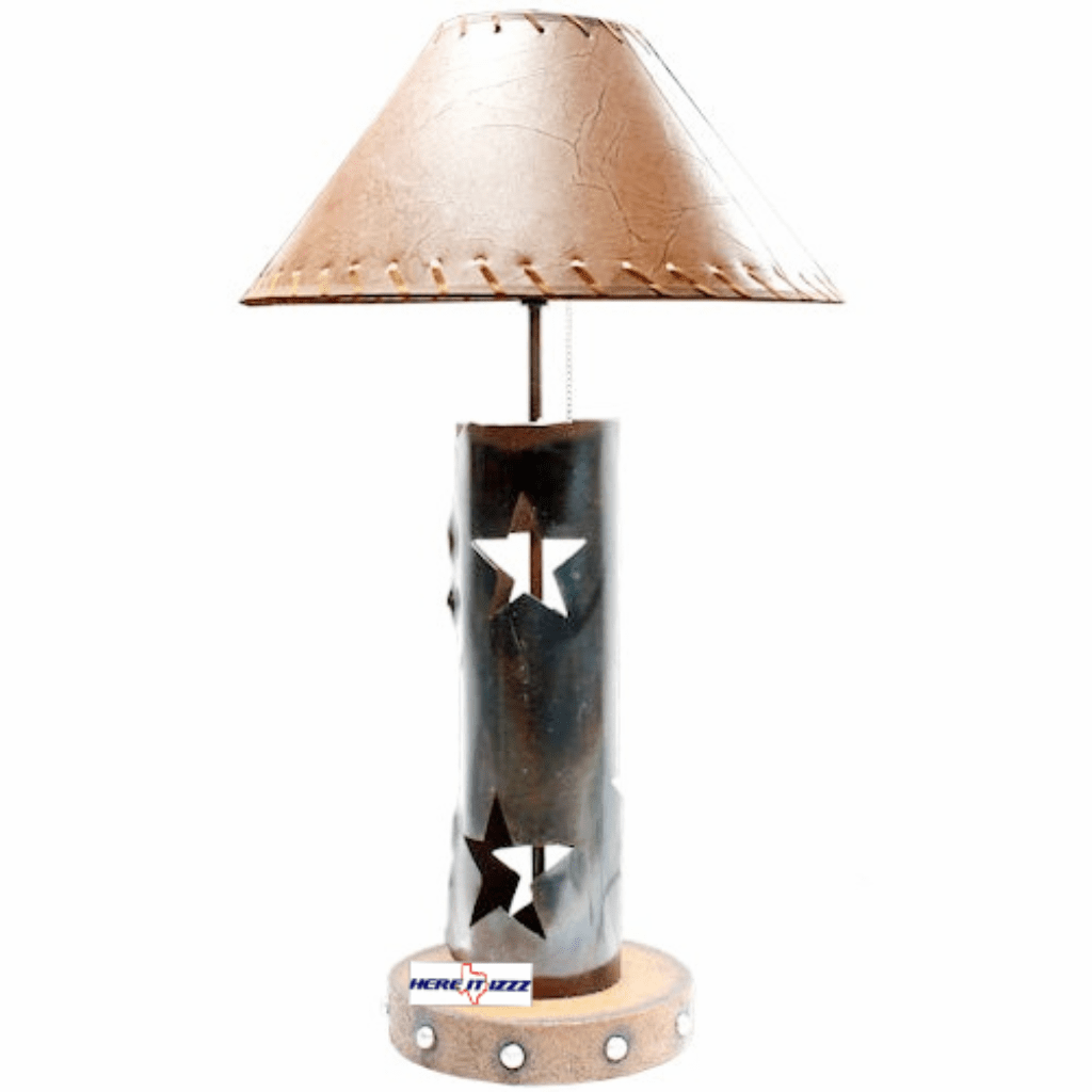 Brushed Metal Rustic Star Lamp