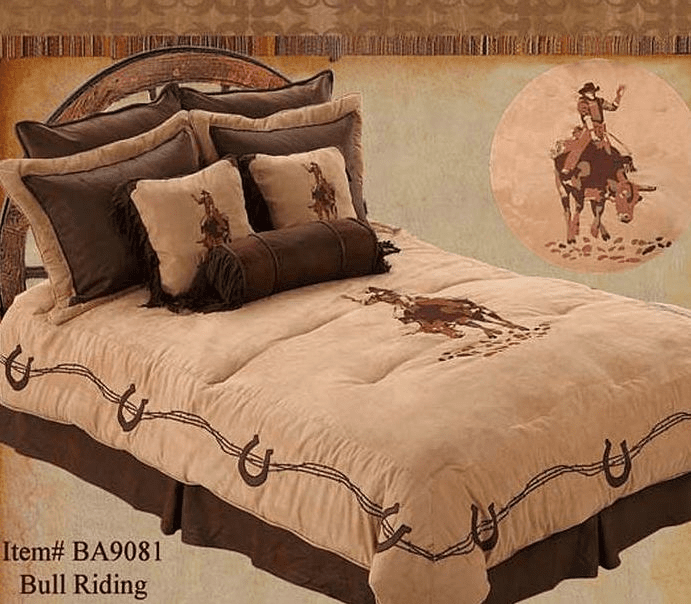 BULL RIDING SUPER QUEEN BEDDING SET