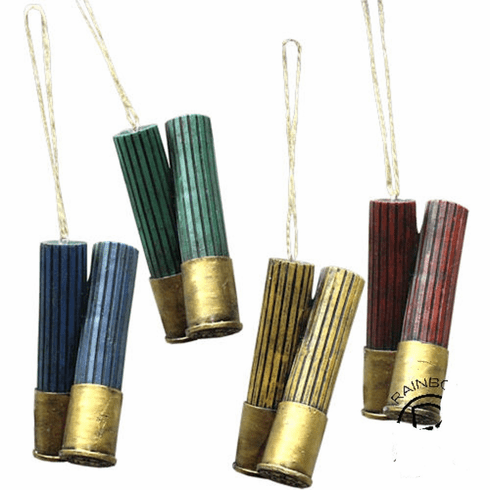 Bullet Shotgun Shell 4 Piece ornament set