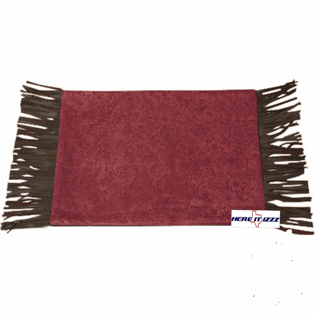 Burgundy Pueblo  Placemat Set