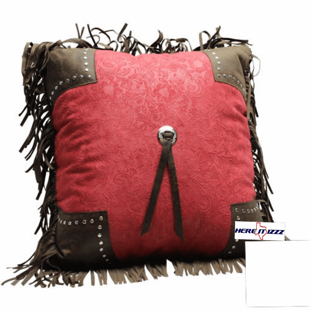 Burgundy Pueblo Single Tassel Pillow