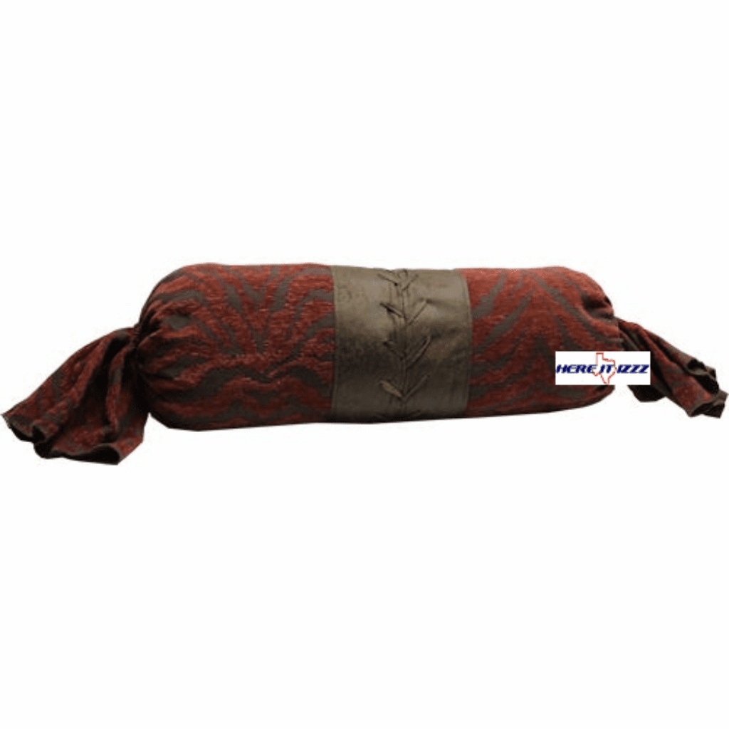 Burgundy Zebra Neck Pillow