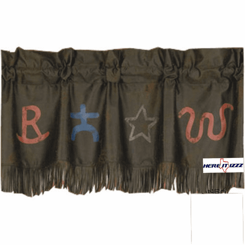 Cattle Branded Valance