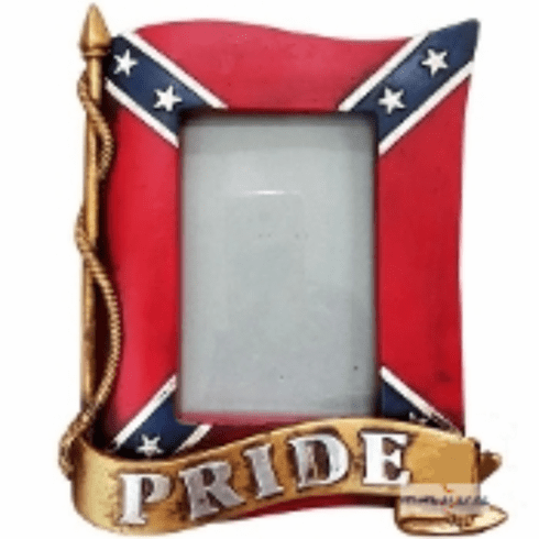 Confederate Flag Rebel Pride Picture Frame 4x6
