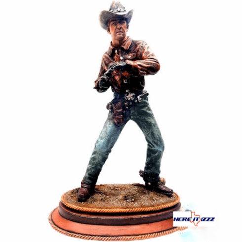 Cowboy Gunslinger with Six Shooter Pistol
