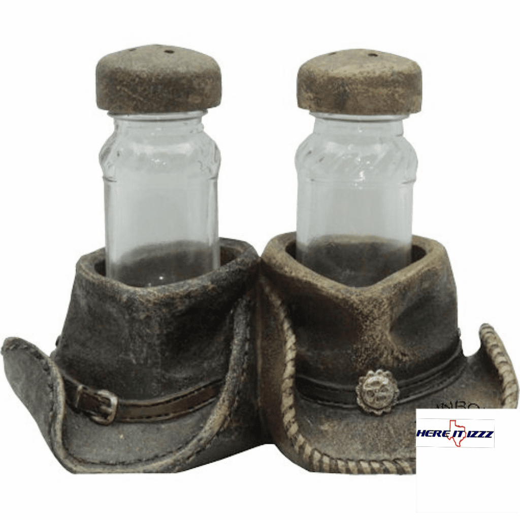 Cowboy Hat Salt And Pepper Holder