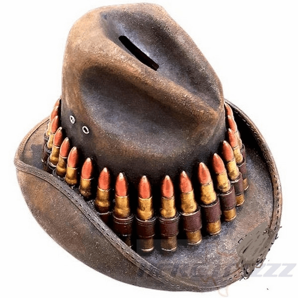 Cowboy Hat with Bullets Bank