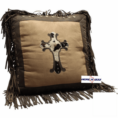 Cowhide  Cross Pillow
