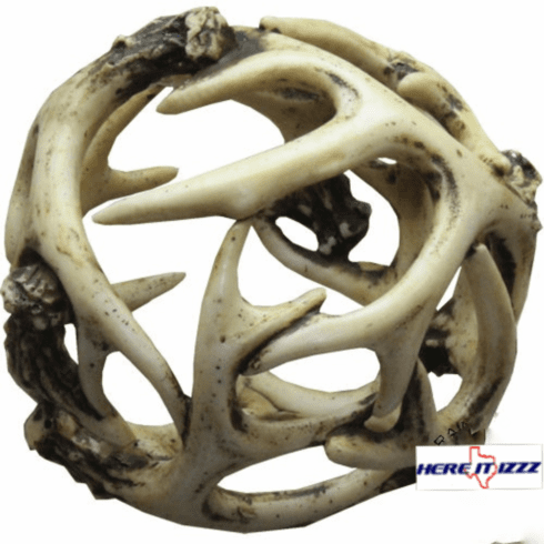 Deer Antler Decorative Sphere