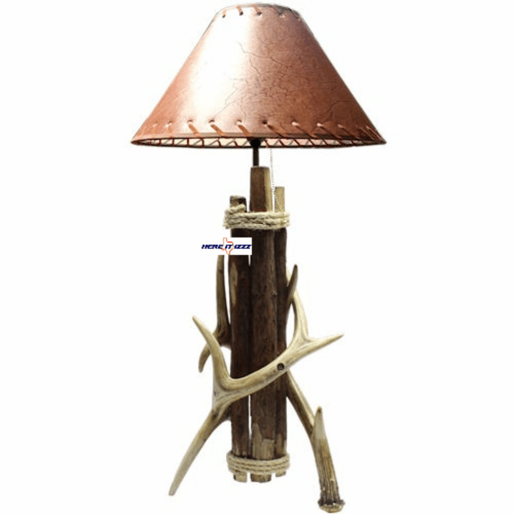 Deer Antler Wood Lamp